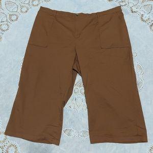 Ava & Viv Brown Cropped Wide-Leg Pant Sz 4x